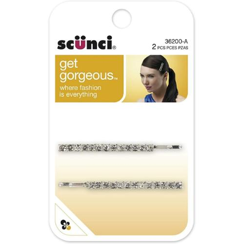 Scunci Get Gorgeous Metal Rhinestone Bobby Pins 2 ea (Pack of 2)