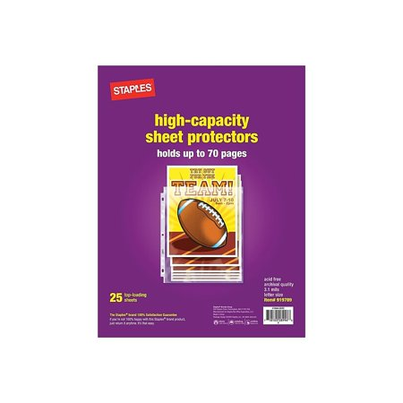Staples High Capacity Sheet Protectors 25/Pack (15944) 919789