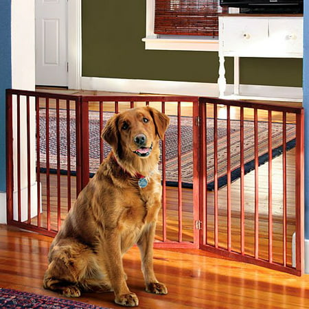 Folding Pet Gate - Folding Wood Pet Gate- 3 Sections