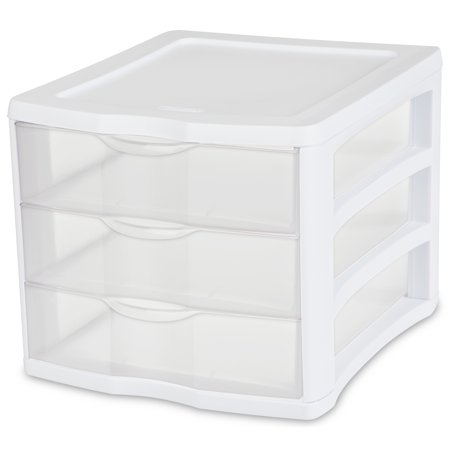 Sterilite 3-Drawer Organizer, White ()