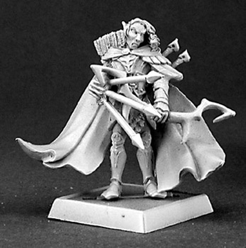 Reaper Miniatures Eawod Silverrain, Elf Warlord #14334 Wood Elves Unpainted Mini