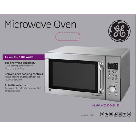 General Electric Ge 1 3 1000 Watts Microwave With Browner
