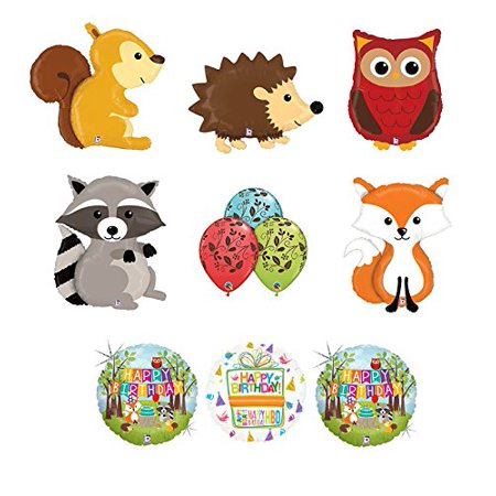 Woodland Creatures Birthday Party Supplies Baby Shower Balloon Bouquet Decorations - Party Decorations Baby Shower