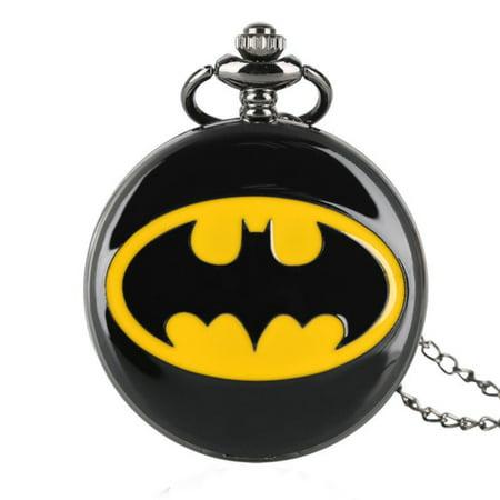 - Batman Black Night Pocket Watch Tarnish Resistant Superhero Watch, PW-49