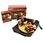 HQRP New Generation Opera Glasses Binocular 3 x 25 w/ Crystal Clear Optic (CCO) & Built-In Extendable Handle / Burgundy with Gold Trim