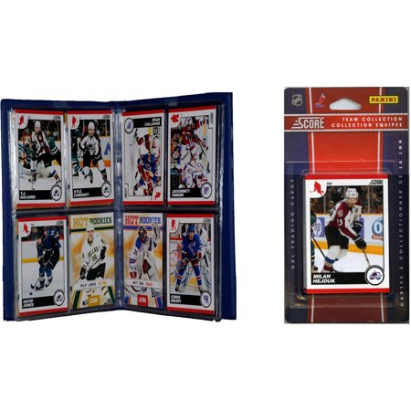 C&I Collectables NHL Colorado Avalanche Licensed 2010 Score Team Set and Storage Album