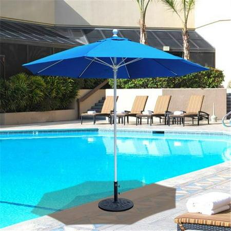 - Galtech 9 ft. Antique Bronze Commercial Use Umbrella - Air Blue Sunbrella