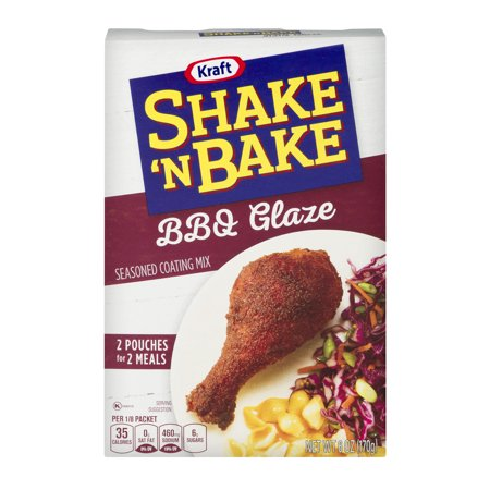 Kraft Shake 'N Bake Seasoned Coating Mix BBQ Glaze - 2 CT