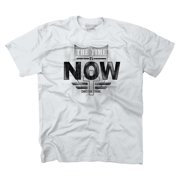 Christian T Shirt The Time Is Now Cross Jesus Faith Religion Tee by Christian Strong