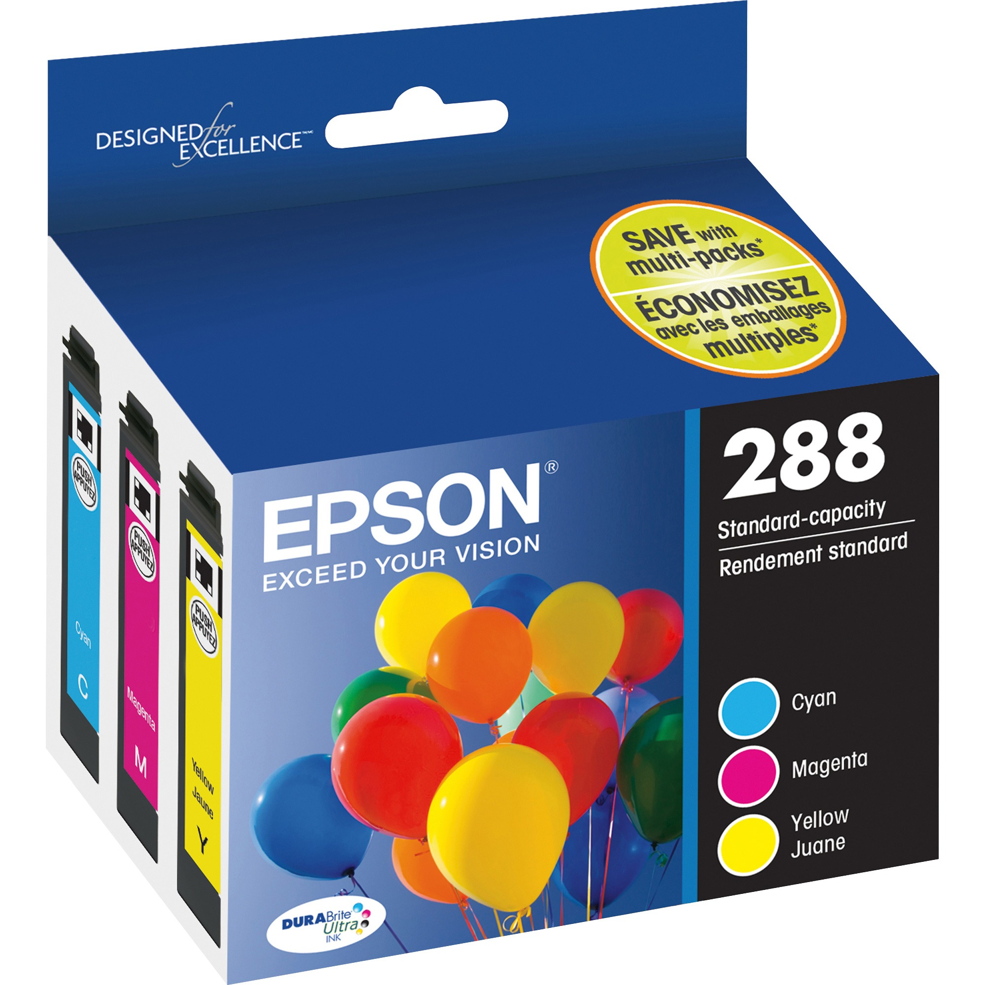 Epson 288 DURABrite Ultra Original Ink Cartridge - Cyan, Magenta, Yellow