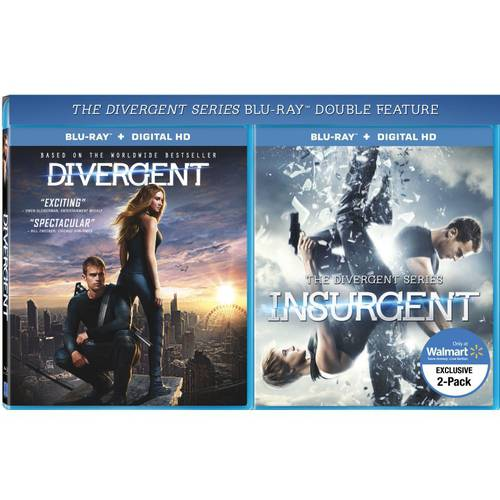Divergent / The Divergent Series: Insurgent (Blu-ray) (Walmart Exclusive) (With INSTAWATCH) (Widescreen)