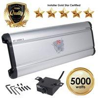Car Amplifiers - ST-2500.2 5000 Watt 2 Channels Class AB Amp 2/4 Ohm + Bass Knob