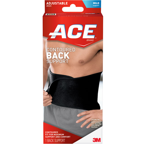 ACE Contoured Back Support, One Size Adjustable, 205324