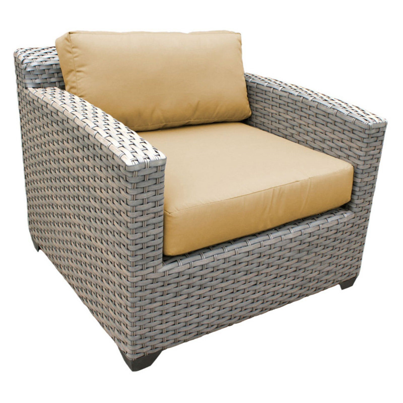 TK Classics Florence Wicker Outdoor Club Chair - Set of 2 Cushion Covers