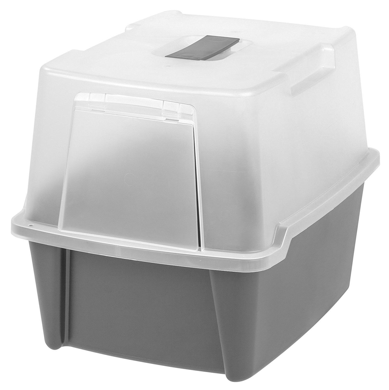IRIS Large Hooded Litter Box, Dark Gray..., By IRIS USA, ...