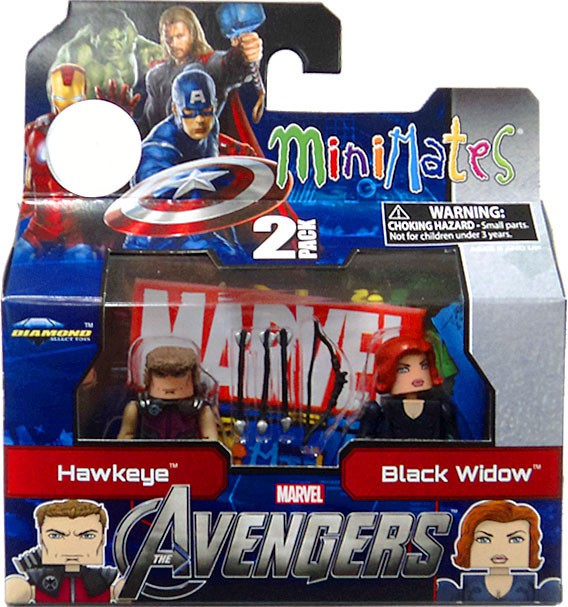 Marvel Minimates Avengers Movie Hawkeye & Black Widow Minifigure 2-Pack