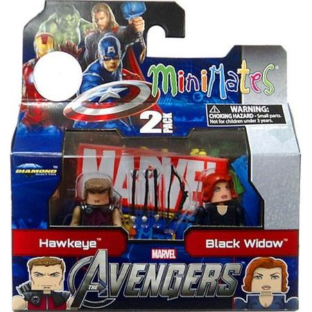 Marvel Minimates Avengers Movie Hawkeye & Black Widow Minifigure - The Avengers Black Widow