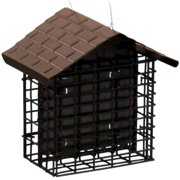 Stokes Select Suet Bird Feeder, Two Cake Suet Buffet with Weather Guard Roof (Pack of 2)