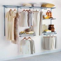 Rubbermaid Configurations Custom Closet Organizer 4'-8' Kit - Titanium | 3G59