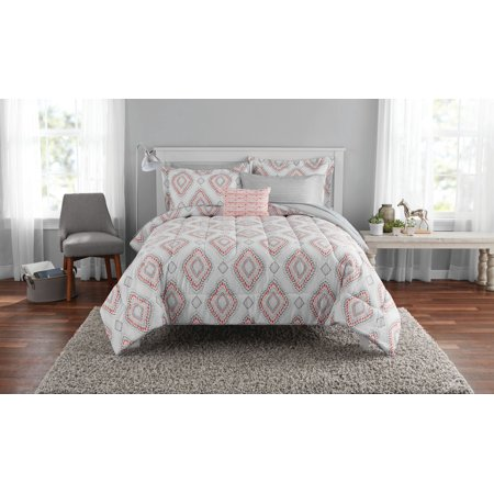Mainstays Double Diamond Bed in a Bag Coordinated Bedding