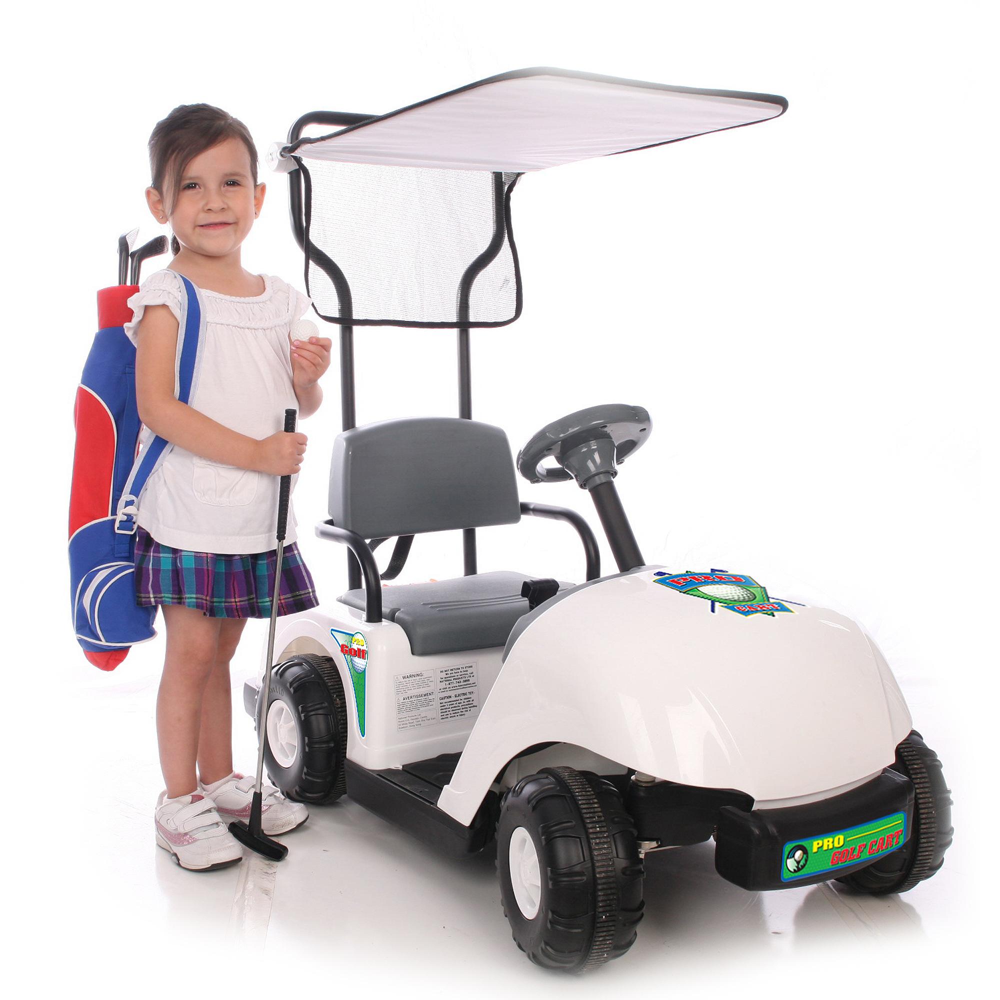 Kid Motorz Jr Pro Golf Cart White 6V