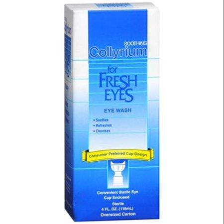 COLLYRIUM pour les yeux frais de lavage des yeux (4 oz Paquet de 6)