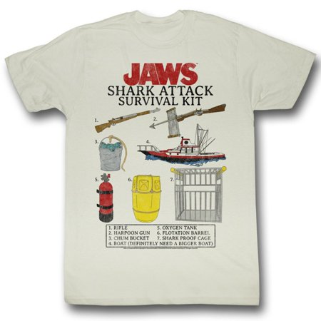JAWS-SURVIVAL KIT-NATURAL ADULT S/S TSHIRT-XL ()