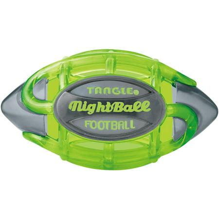 Tangle Night Football, Small, Green Body/Gray Tips](Light Up Football)