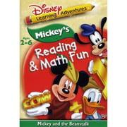 Mickey's Reading & Math Fun: Mickey And The Beanstalk by DISNEY/BUENA VISTA HOME VIDEO