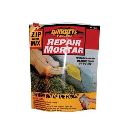 Quikrete 124115 Zip And Mix Repair Mortar, 3 lbs