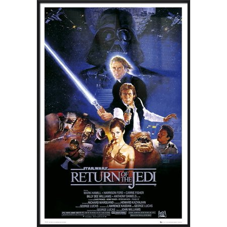 - Star Wars: Episode VI - Return Of The Jedi - Framed Movie Poster / Print (Regular Style) (Size: 24