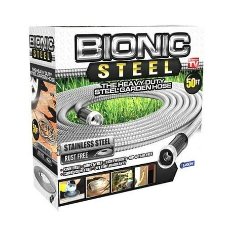 Image of Bionic Steel Stainless Steel Super Durable Metal Garden Hose - Lightweight & Kink-Free, 50 ft- As Seen on TV