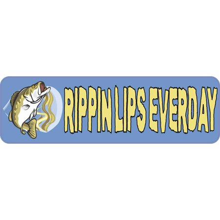10in x 3in Rippin Lips Everyday Fishing Bumper Magnet Magnetic Bass -