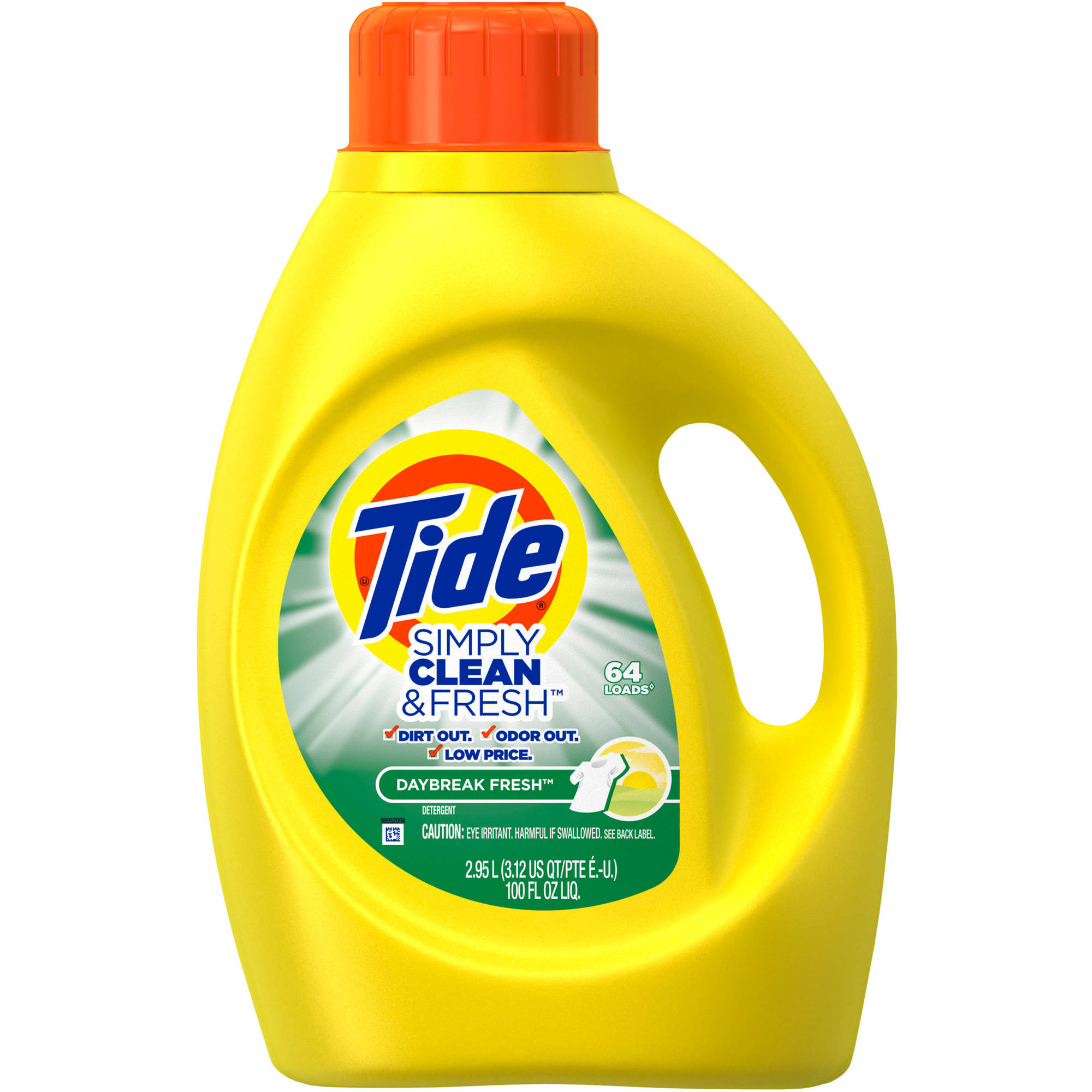 Tide Simply Clean & Fresh HE Liquid Laundry Detergent, Daybreak Fresh Scent, 64 loads, 100 oz