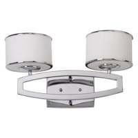 Safavieh Lenora Modern Glam Double Drum Sconce, Chrome
