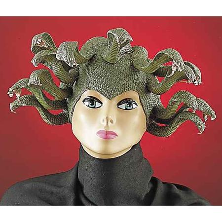 Medusa Snake Headpiece Latex Womens Wig Costume Hat Adult Mask Green Greek - image 1 de 1