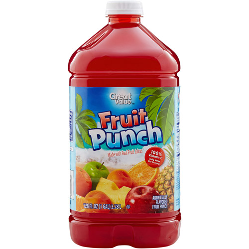 Great Value Fruit Punch From Concentrate, 128 fl oz