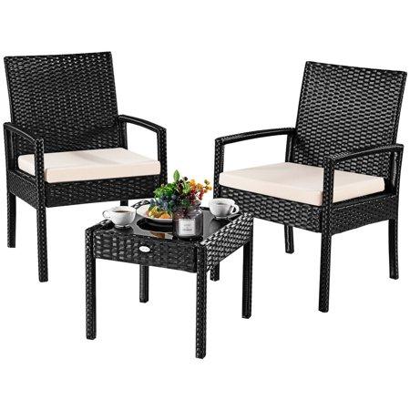 3pcs Outdoor Rattan Patio Furniture Set