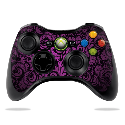 Protective Vinyl Skin Decal Cover for Microsoft Xbox 360 Controller wrap sticker skins Purple Style