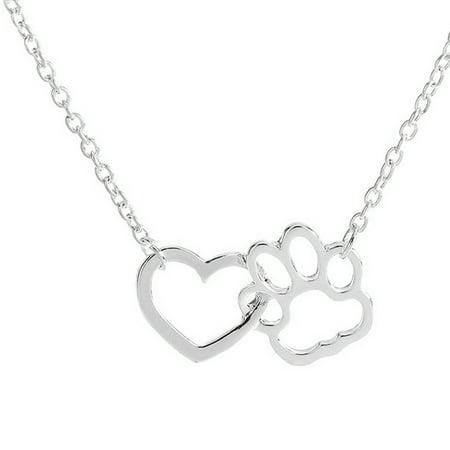 Women Personalized Fashion Jewelry Crystal Rhinestone Dog Paw (Crystal Pad)