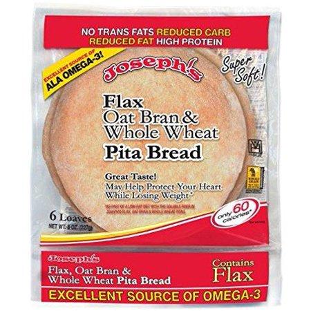 Joseph's Flax, Oat Bran and Whole Wheat Flour Pita Bread 6 loaves (8 oz) 1