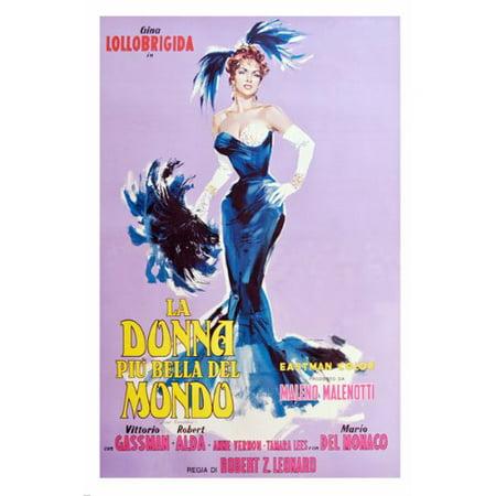 Mondo Ball - La Donna Mondo Movie Poster Exotic Beauty Feathers Gina Lollobrigida 24X36