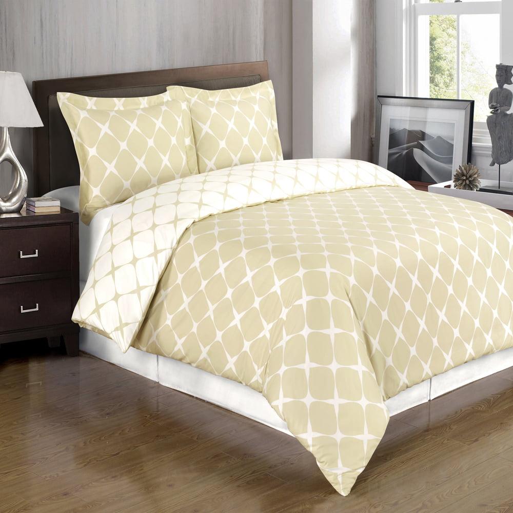 Bloomingdale egyptian cotton duvet covers set 3pc walmart com