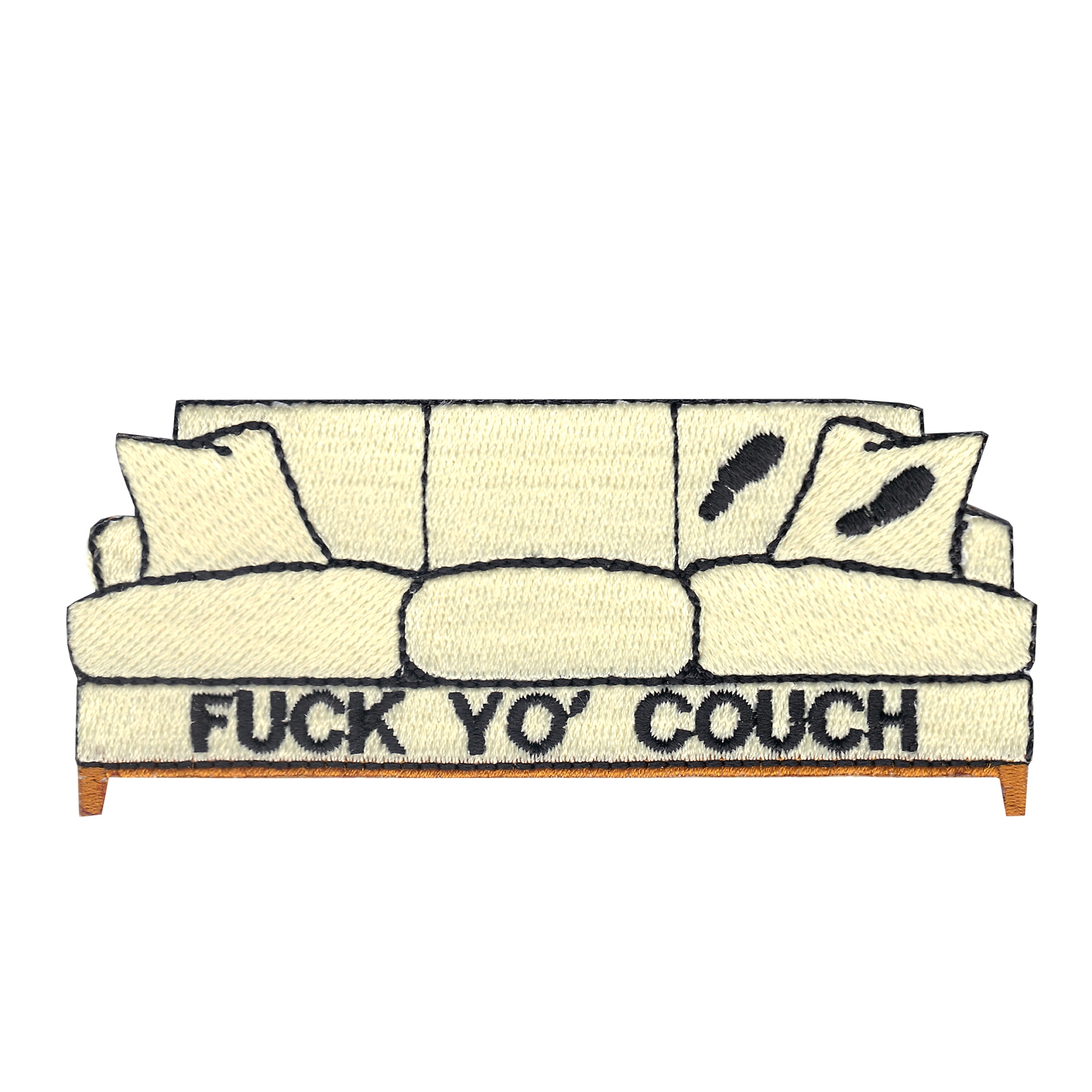 Dirty Couch Iron On Applique Patch