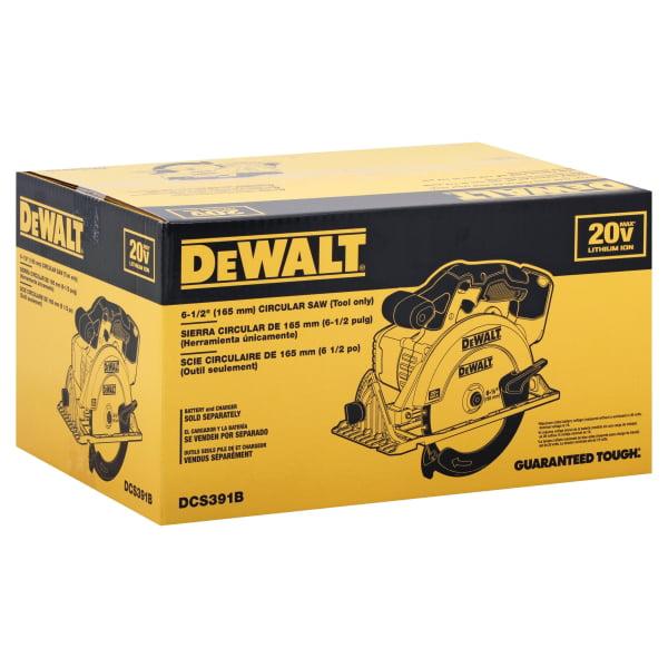 """DeWalt 20V MAX* 6-1/2"""" Circular Saw (Tool Only)"""