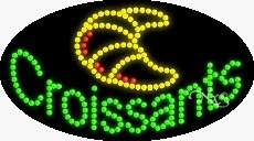 Croissants Flashing & Animated LED Sign (High Impact, Energy Efficient) by ArterNeon