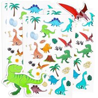 Blue Panda 36-Sheets Small Dinosaur Stickers - 1008 Total Pieces for Kids, Scrapbooking, and Birthday Party Favors, 8.5 x 5 Inches
