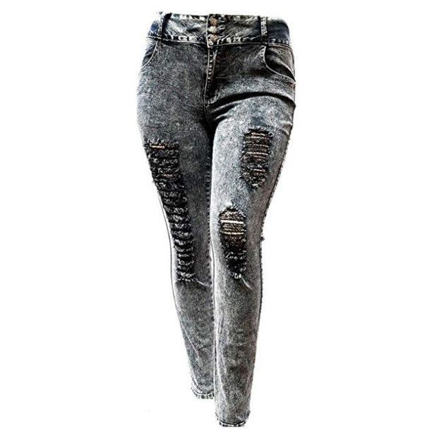mossa Umano consulente  Jack David - Jack David Women's Plus Size Stretch Distressed Ripped Skinny black  Denim Jeans Pants - Walmart.com - Walmart.com