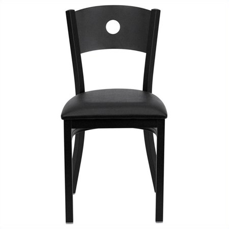Flash Furniture Hercules Circle Back Metal Dining Chair in Black - image 2 de 2
