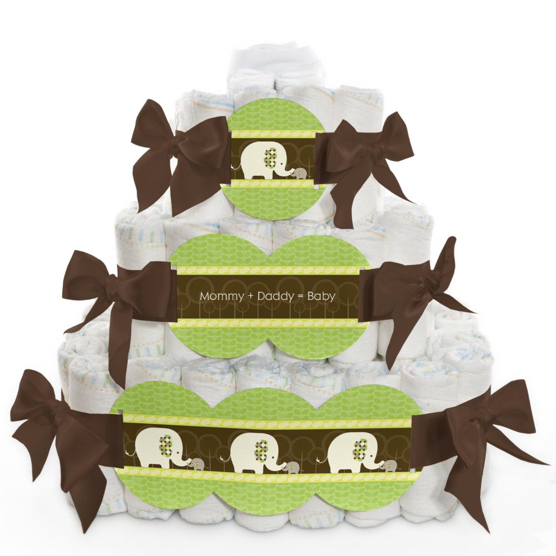 Baby Diaper Cake - Elephant - 3 Tier